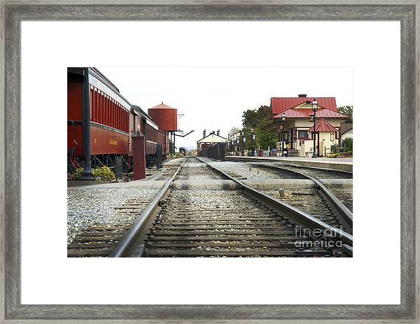 Before The First Passengers Framed Print