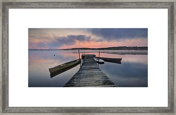 Before The Sun Framed Print