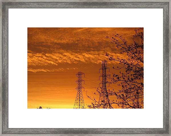 Before The Sunrise Framed Print