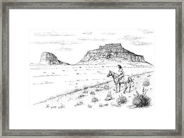 Open Prairie Overlook Framed Print