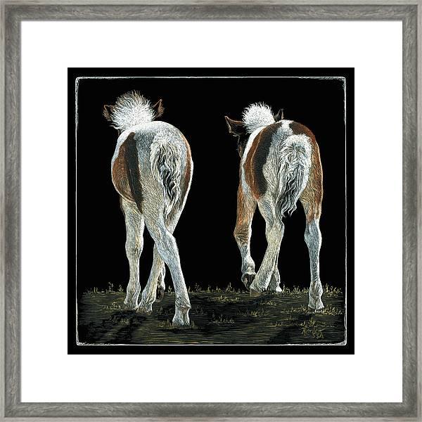 Beginning Line Dancing Framed Print