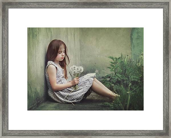 Behind The Corner Framed Print by