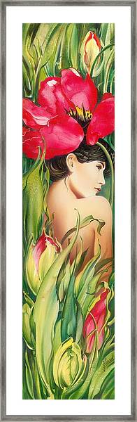 Behind The Curtain Of Colours -the Tulip Framed Print