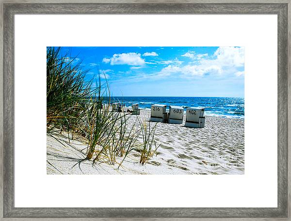 Behind The Dunes -light Framed Print