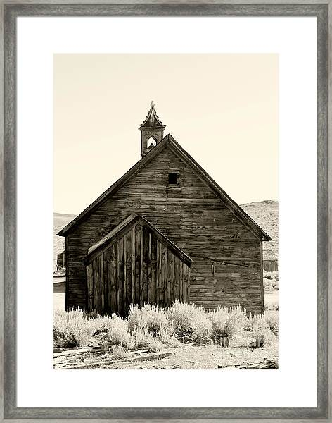 Behind The Steeple By Diana Sainz Framed Print