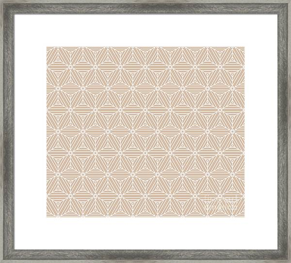 Beige Color Seamless Texture Of Cubes Framed Print