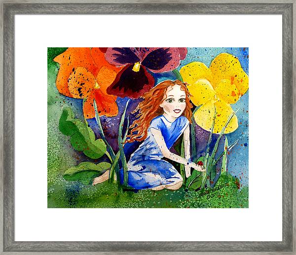 Tiny Flower Fairy Framed Print