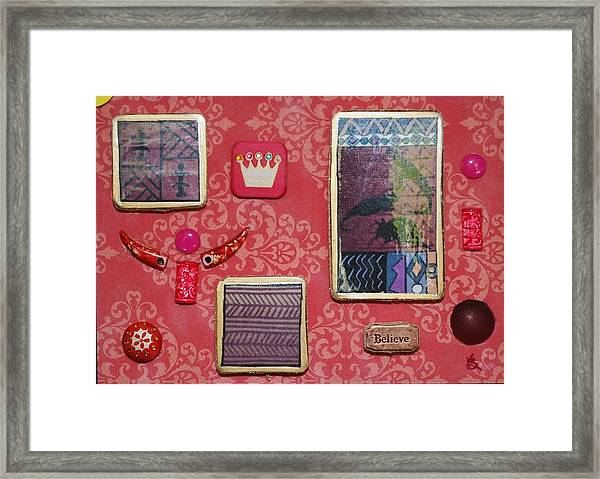 Believe Collage Framed Print