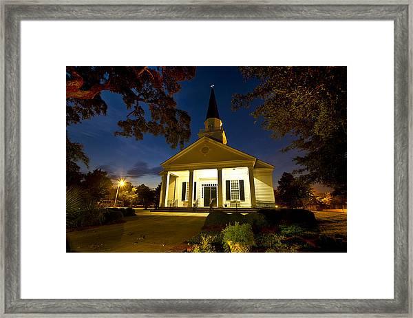 Belin Memorial Umc After Dark Framed Print