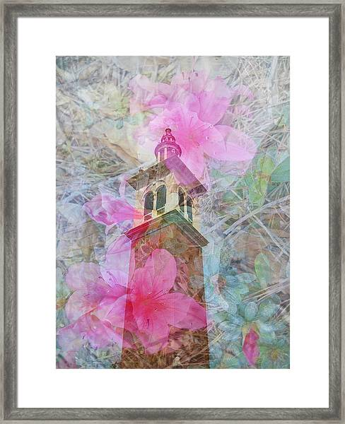 Bell Tower Wrapped In Spring Framed Print