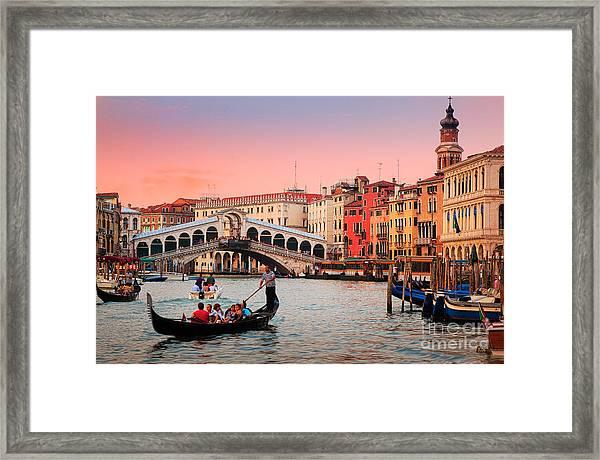 La Bella Canal Grande Framed Print