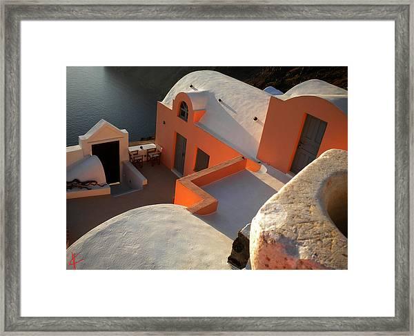 Bella Santorini Hause Framed Print