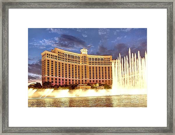 Bellagio Las Vegas Framed Print