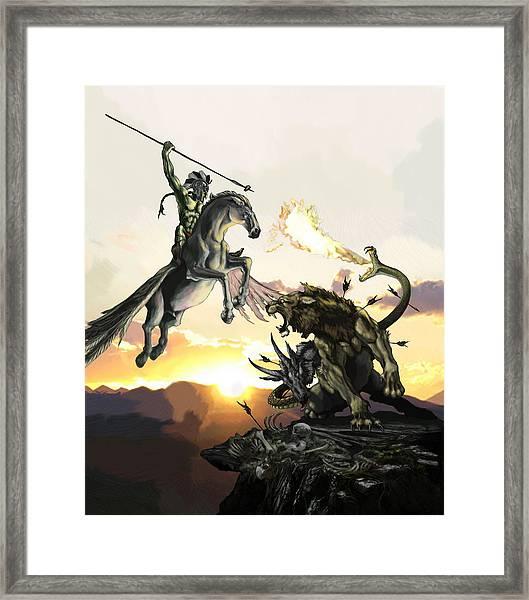 Bellephron Slays Chimera Framed Print