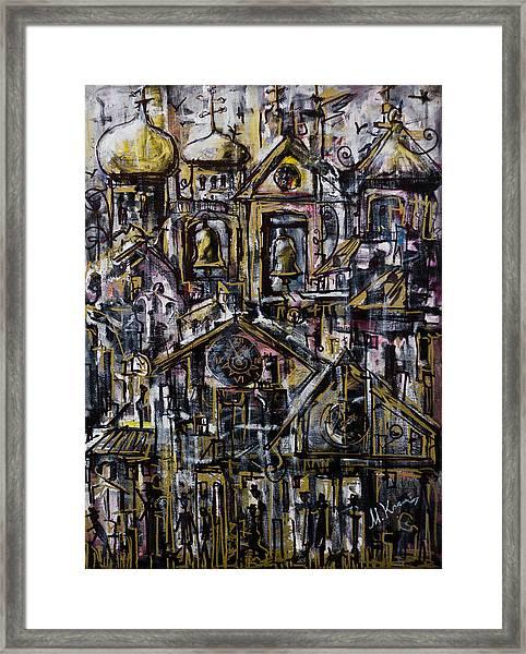 Bells Clocks And Crosses Framed Print