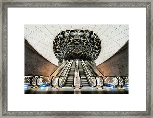 Below The Concrete Surface Framed Print