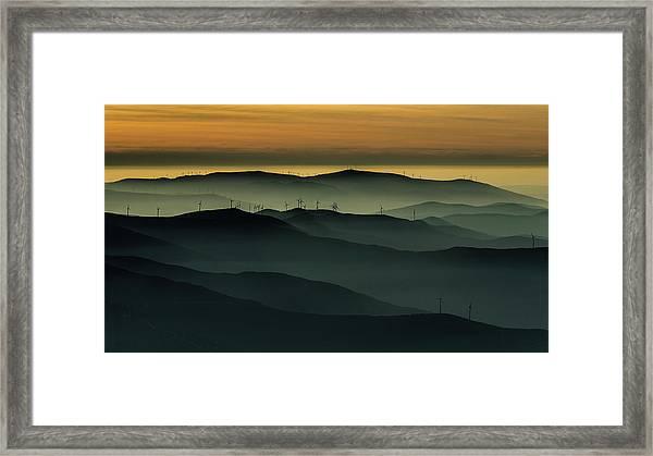 Below The Horizon Framed Print by Rui Correia