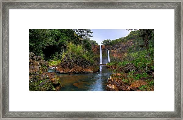 Below Wailua Falls Framed Print