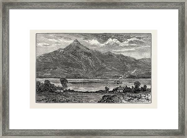 Ben And Loch Lomond, Uk. Loch Lomond Is A Freshwater Framed Print