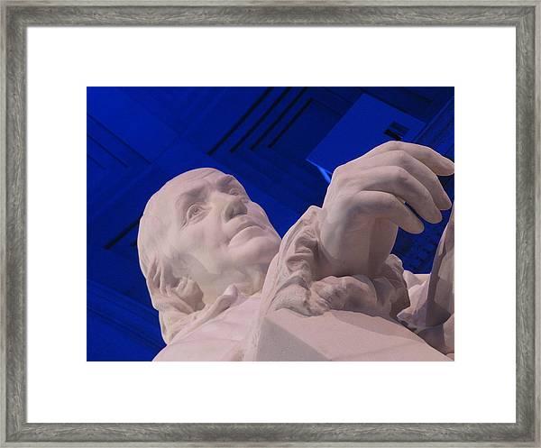 Ben Franklin In Blue I Framed Print