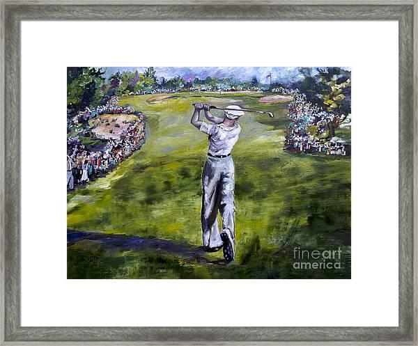Ben Hogan Golf Painting Framed Print