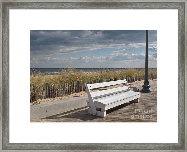 Bench Warmer Framed Print