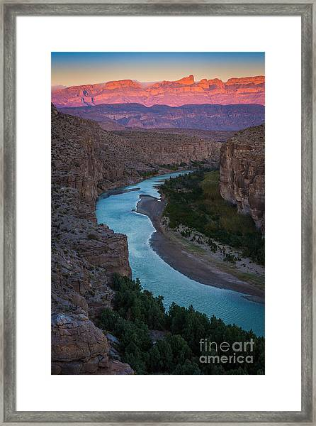 Bend In The Rio Grande Framed Print