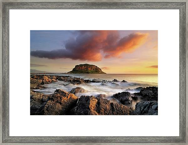 Beneath A Still Sky Framed Print by Maria Kaimaki