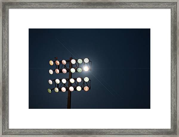 Beneath Friday Night Lights Framed Print