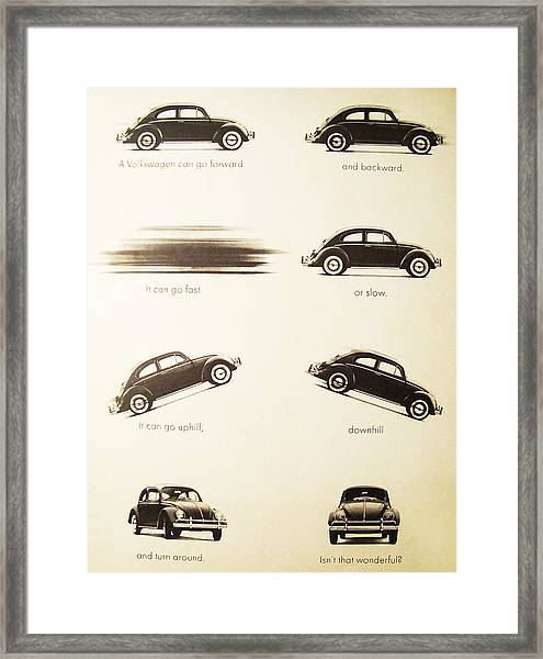 Benefits Of A Volkwagen Framed Print
