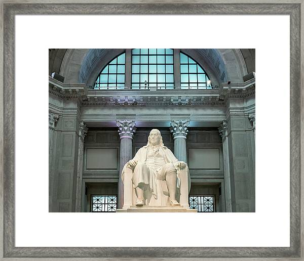 Benjamin Franklin Framed Print by John Greim/science Photo Library