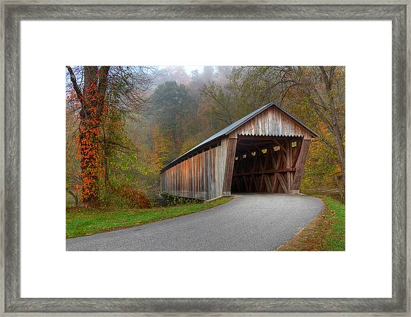 Bennett Mill Covered Bridge Framed Print