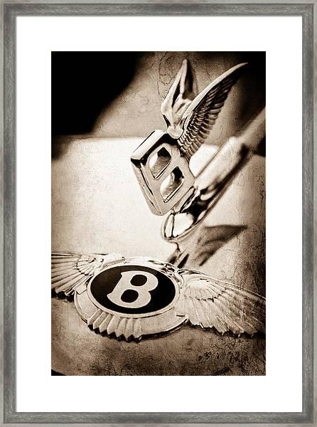 Bentley Hood Ornament - Emblem Framed Print