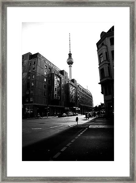 Berlin Bw Framed Print by Falko Follert