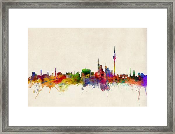 Berlin City Skyline Framed Print