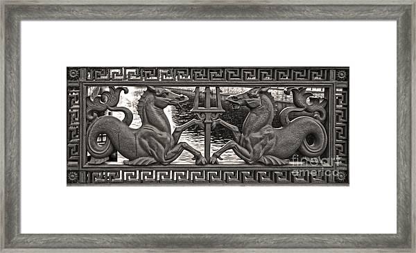 Berlin Sea Horses Framed Print