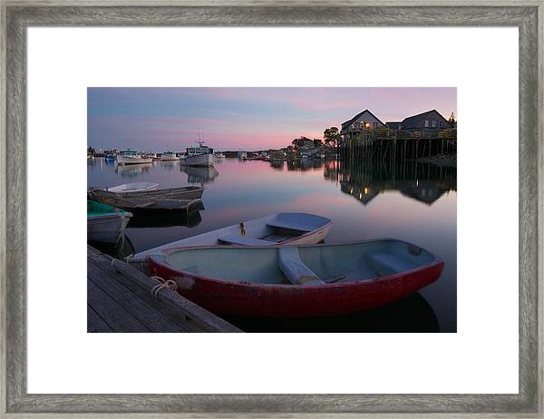 Bernard Harbor Framed Print