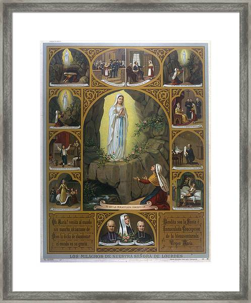 Berndatte Soubirous' Vision,  And Some Framed Print