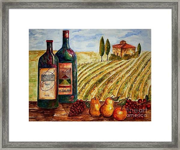 Bernhardt And Retreat Hill Winery Framed Print
