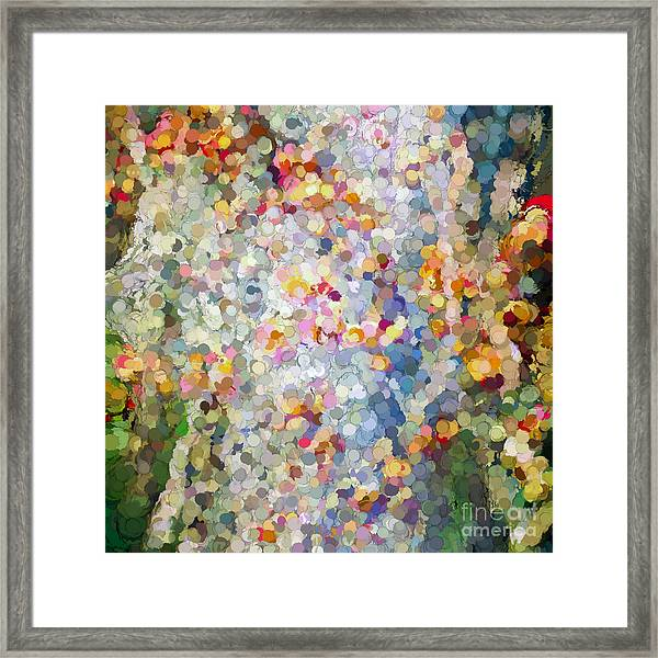 Berries Around The Tree - Abstract Art Framed Print