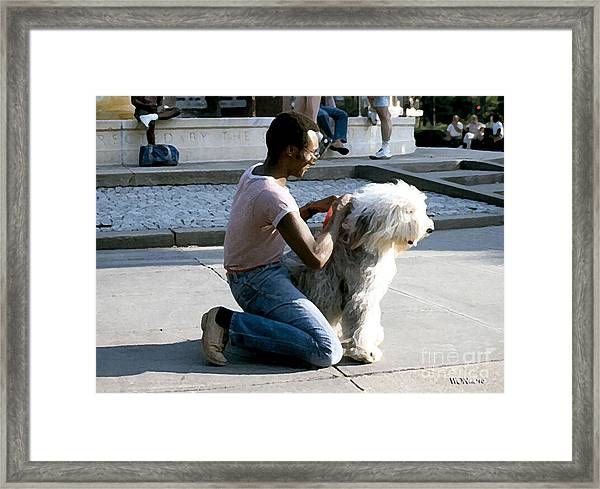 Best Friends On Dupont Circle Framed Print by Walter Neal