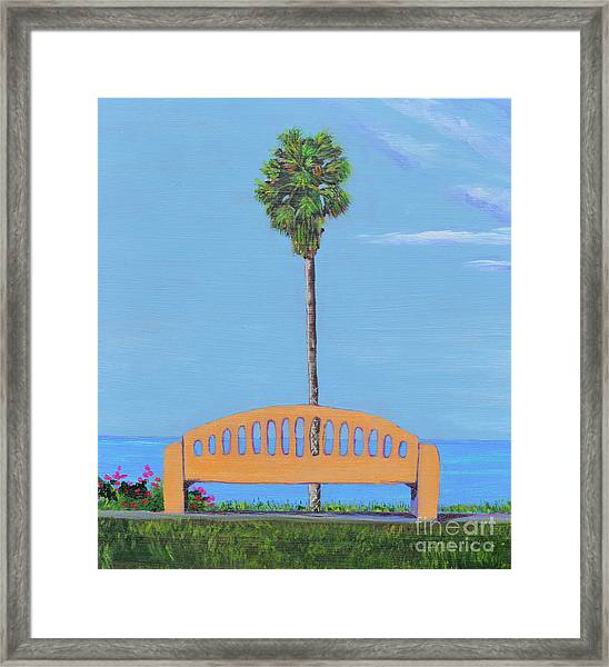 Best Seat In San Clemente Framed Print
