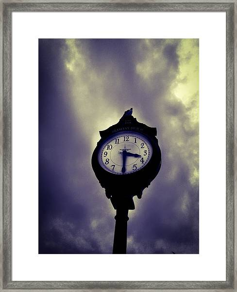 Bethany Beach Gloom Framed Print
