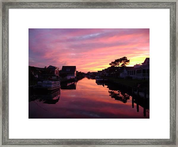 Bethany Beach Sunset Framed Print