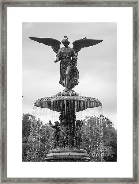 Bethesda Black And White Framed Print