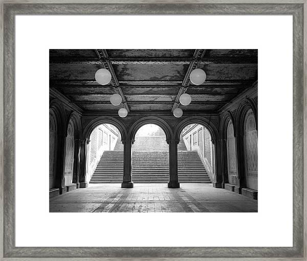 Bethesda Passage Central Park Framed Print