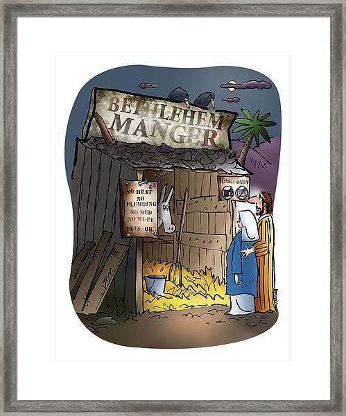 Bethlehem Manger Framed Print