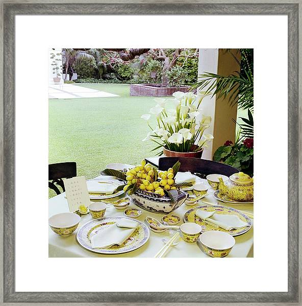 Betsy Bloomingdale's Dining Table Framed Print