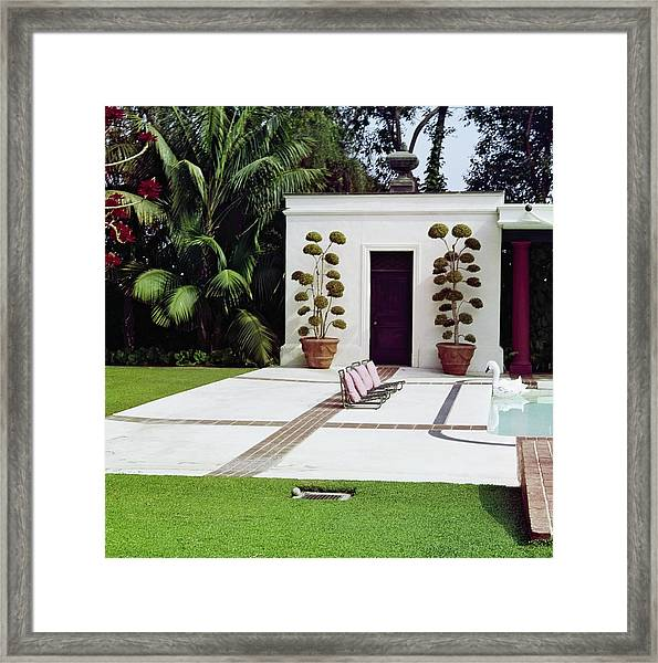 Betsy Bloomingdale's Patio Framed Print