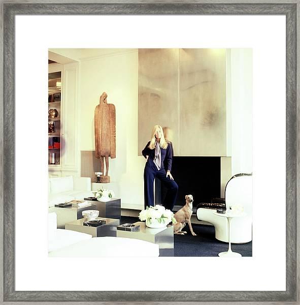 Betty Catroux In Her Living Room Framed Print by Horst P. Horst